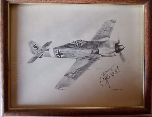 Signed Drawing- Is It Rudel?