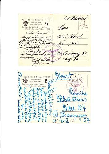 SS Polizei postcards
