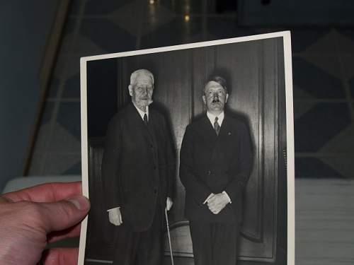 Paul von Hindenburg and Hitler