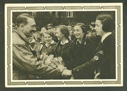 Hitler postcard...He liked little girls.
