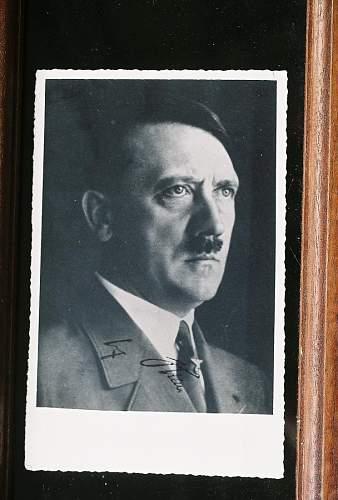 Nazi postcard with autograph?