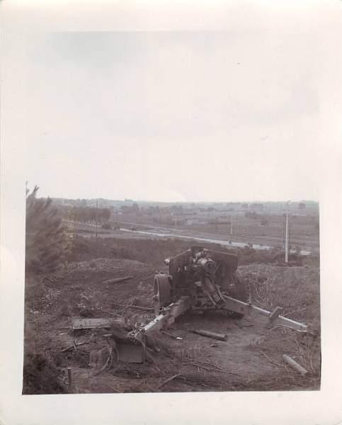 Captured gun emplacements