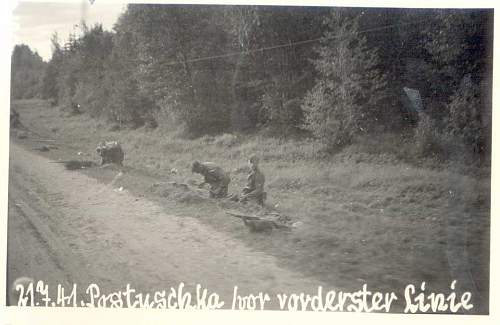 1941 Strassburg-Wolchow. Pictures- diary. 3. Schw. Art. Abt. 680