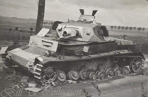 Click image for larger version.  Name:Panzer IV hit by Mine Pz Reg33_final.jpg Views:191 Size:103.7 KB ID:231231