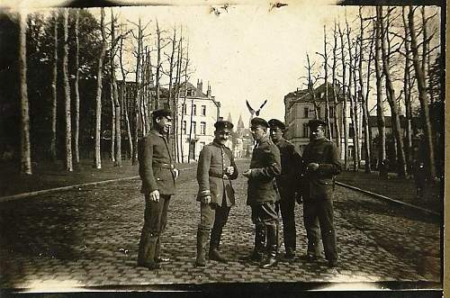 German officers standing in a photo - USSR 1932