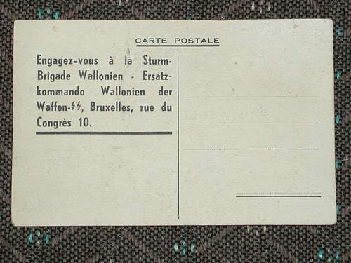 Belgian SS postcard