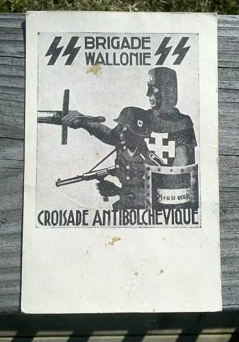 Brigade Wallonie postcard