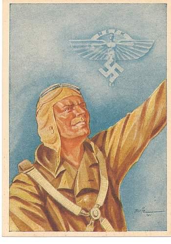 New Postcards Olympic,NSFK pilot,and Sturmfuhrer.