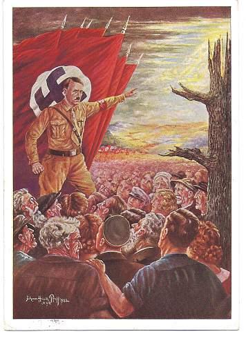 New Reichsparteitag Postcard Very rare