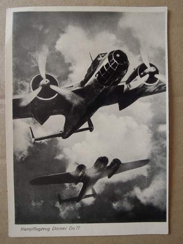 Click image for larger version.  Name:Dornier Do 17 Kampflugzeug.JPG Views:132 Size:183.6 KB ID:311124