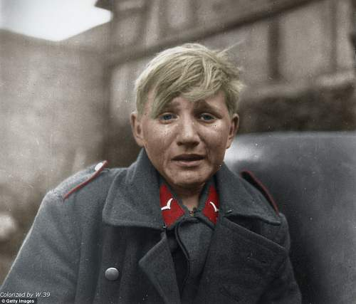 Click image for larger version.  Name:15yr old Hans-Georg Henke cries captured by the US 9th Army Germany April 3, 1945. - Copy - Copy.jpg Views:7251 Size:132.7 KB ID:313625