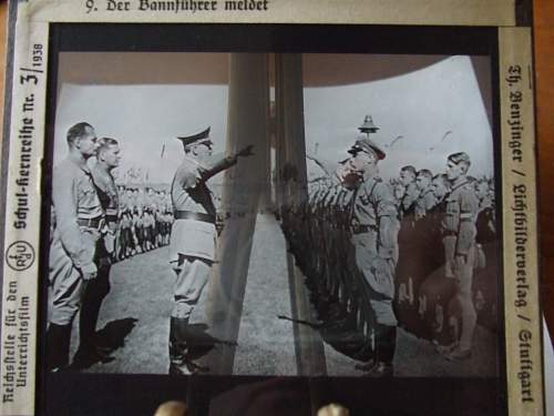 glass photo negative of hitler at youth nazi camp