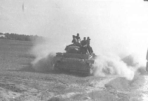 "First days of operation ""Barbarossa"", German tanks Pz1-2-3"