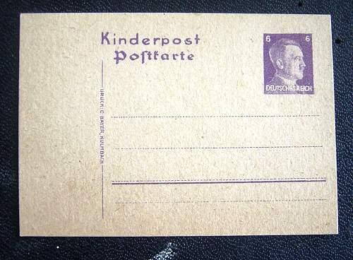 kinderpost postkarte