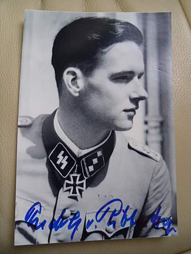 Rudolf von Ribbentrop signed photo