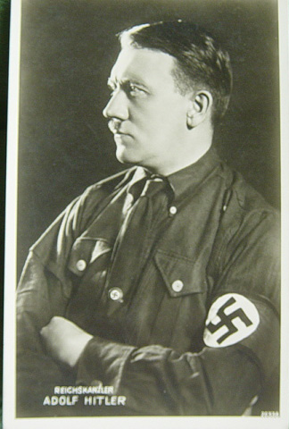 Early postcard with Hitler in SS armband
