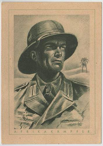 WW2 German postcard set