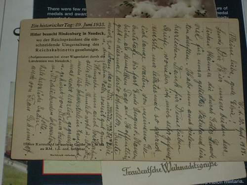 Hitler & Hindenberg POST CARD...