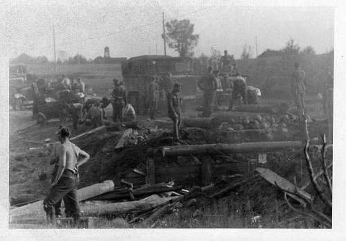German soldiers in the battles. Destroyed tanks and guns more photos