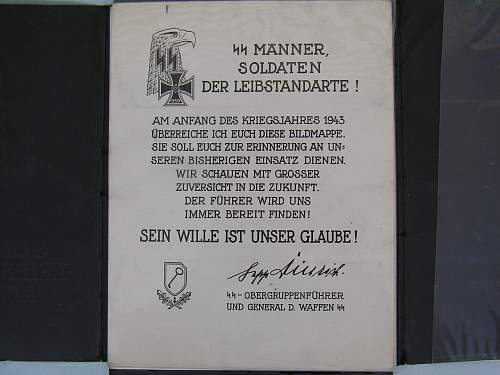 SS Leibstandarte Album and World Atlas