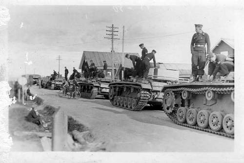 German and Soviet Russian tanks in action. Ostfront