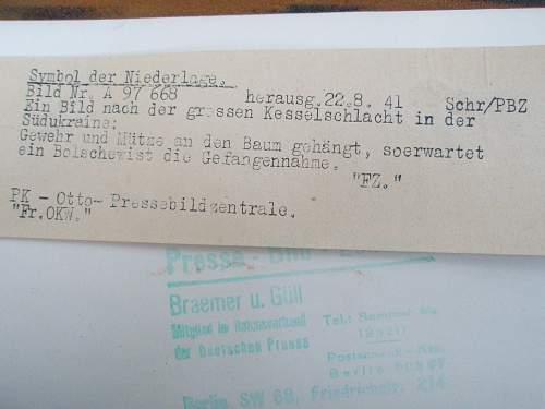 Translation? German Press Pic Budenovka & M38 Rifle
