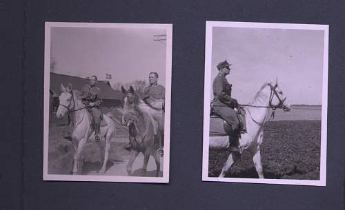 Heer Cavalry Officers on Horses (Tradition cap badges)
