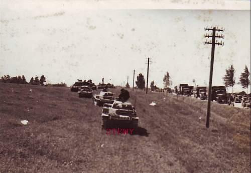 Panzer column