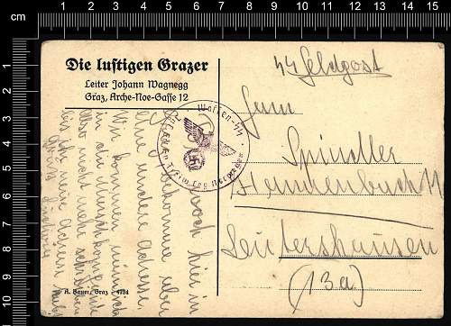 Postcard marked Legion Norwegen