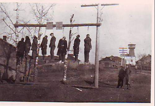 Graphic Hanged partisans pic group