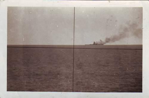Graf Spee burning