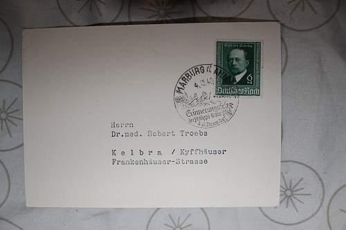 Emil Von Behring post card 1940