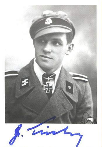 FISCHER Gerhard signature post war signed. original signature?