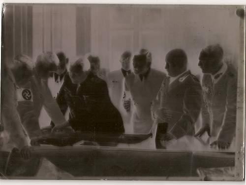 Original Photo & Negative of Hitler & Mussolini