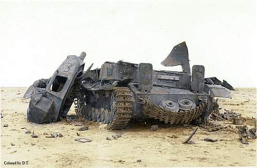 Click image for larger version.  Name:Panzer destroyed in desert sharpen version 1signo.jpg Views:115 Size:44.6 KB ID:791187