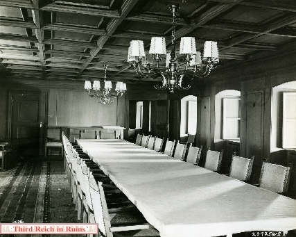 I'm looking for photos showing chairs in Eagle's Nest dining hall...