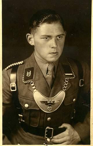 Unknown German Gorget & Uniform in wear...
