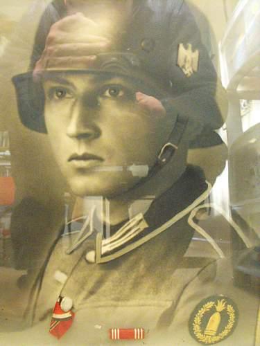 ww2 soldat photo in frame