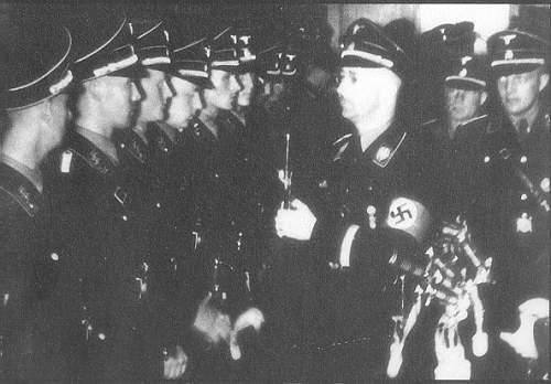 H Himmler presenting the Honour Degen