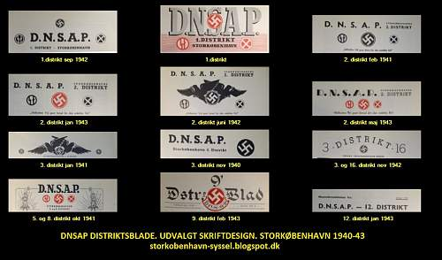 Rare collection of Danish Nationalsocialst Letterheads