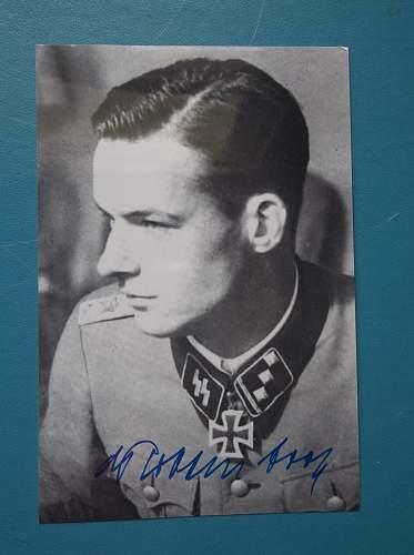 Original post war signed Rudolf Von Ribbentrop signature?