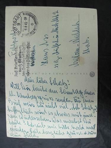gebirgsjager postcard