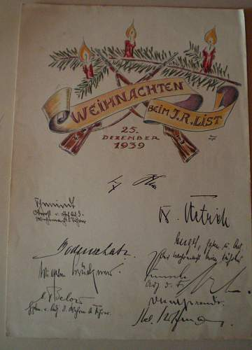 1939 Signed Christmas Card...