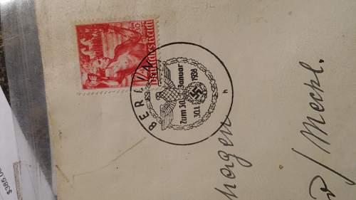 intersting  stamped letter