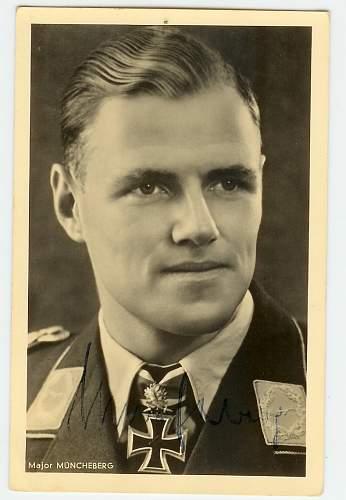 Wartime signed postcards
