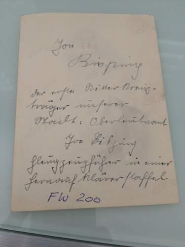 German Ritterkreuz recipient photo help/translation
