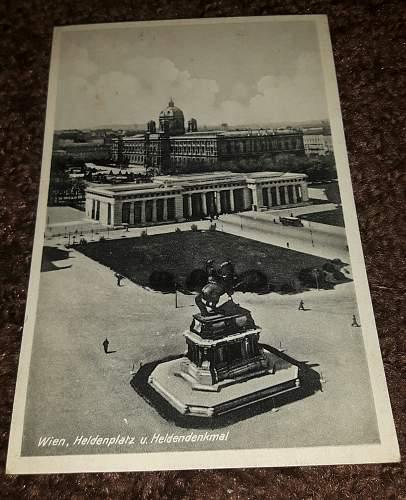 Postcard of Vienna, interesting text