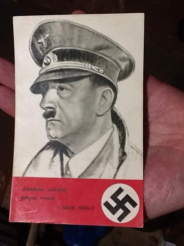 Ww2 german postcard adolph hitler  spanish ???