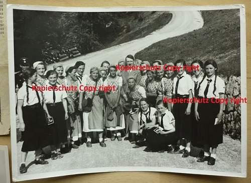 Hitler signed postcard + small documentation