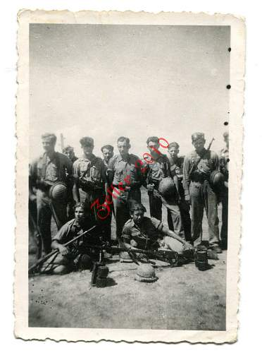 kampfgruppe with net on helmets